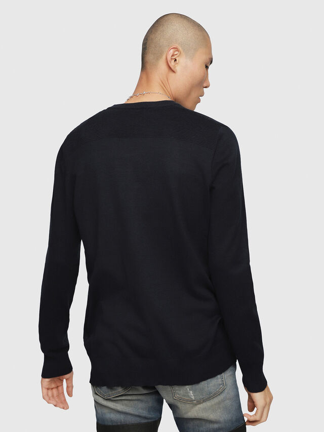 Diesel - K-OVER, Dark Blue - Knitwear - Image 2