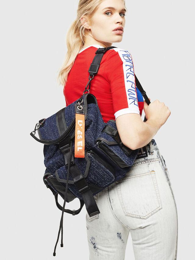 Diesel - MISS-MATCH BACKPACK, Blue Jeans - Backpacks - Image 5