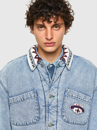 Diesel - DxD-J4, Light Blue - Denim Jackets - Image 4