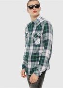 S-EAST-LONG-F, Green/Grey - Shirts