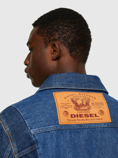 Diesel - D-COSNIL, Medium blue - Denim Jackets - Image 4