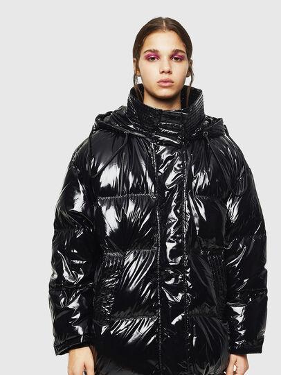 Diesel - W-ALLA, Black - Winter Jackets - Image 1