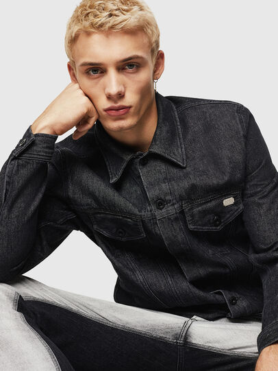 Diesel - D-BRAY, Black - Denim Jackets - Image 4