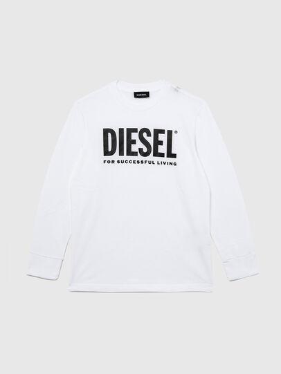 Diesel - TJUSTLOGO ML, White - T-shirts and Tops - Image 1