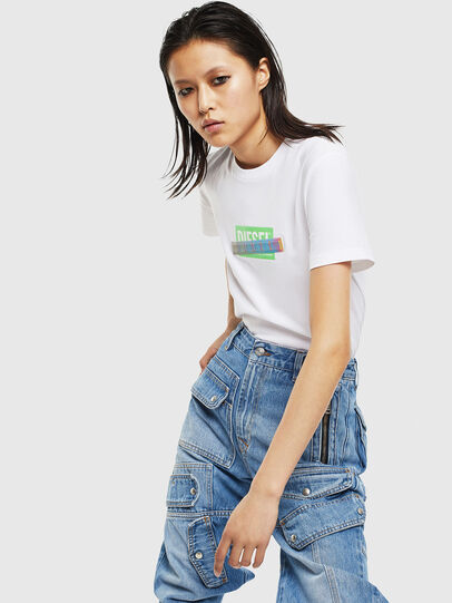 Diesel - T-SILY-S2, White - T-Shirts - Image 5