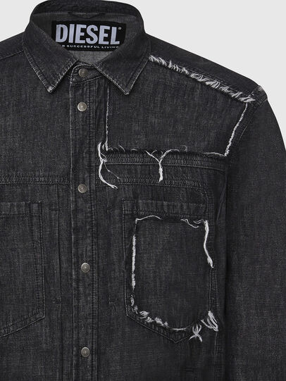 Diesel - D-NESKY, Black - Denim Shirts - Image 3