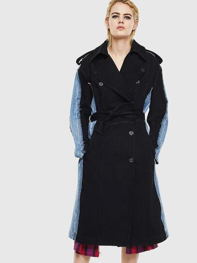 Diesel - DE-PRAVU, Black/Blue - Denim Jackets - Image 1