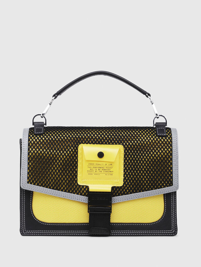 Diesel - MISS-MATCH CROSSBODY, Blue/Yellow - Crossbody Bags - Image 1