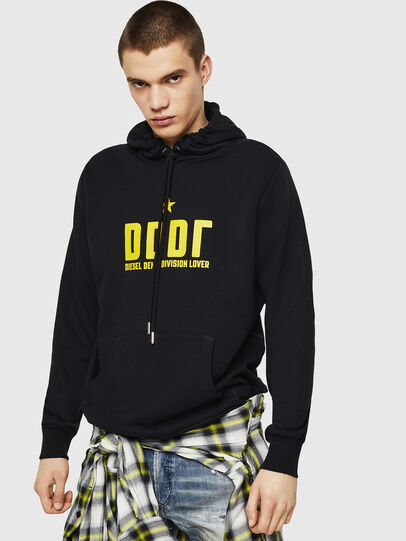 Diesel - S-GIR-HOOD-A1, Black - Sweaters - Image 1
