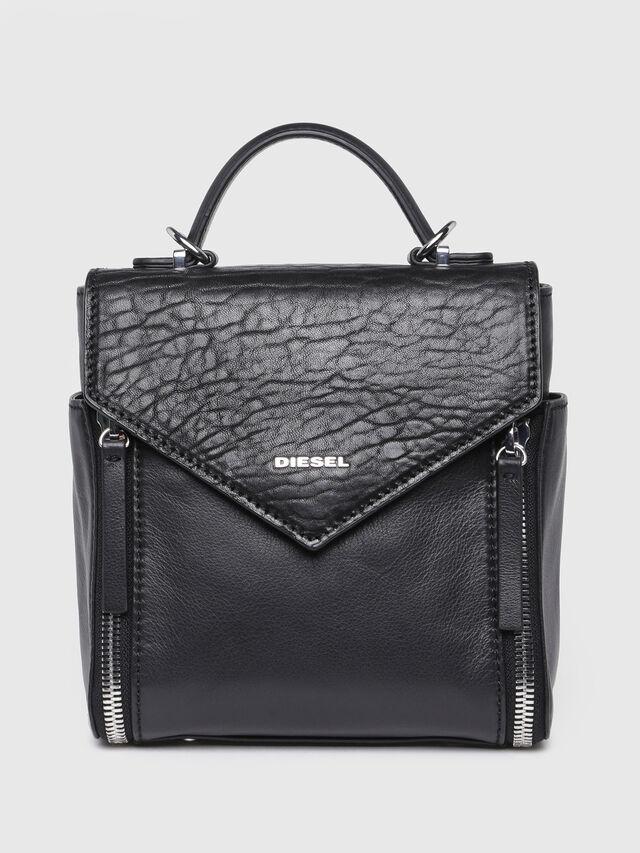 Diesel - LE-KIIMY II, Black Leather - Backpacks - Image 1