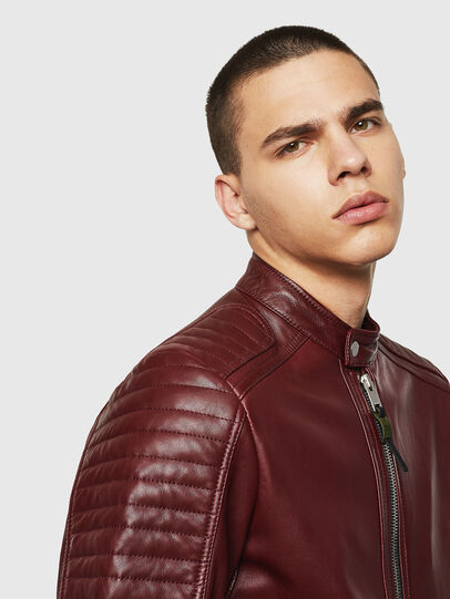 Diesel - L-SHIRO, Bordeaux - Leather jackets - Image 3