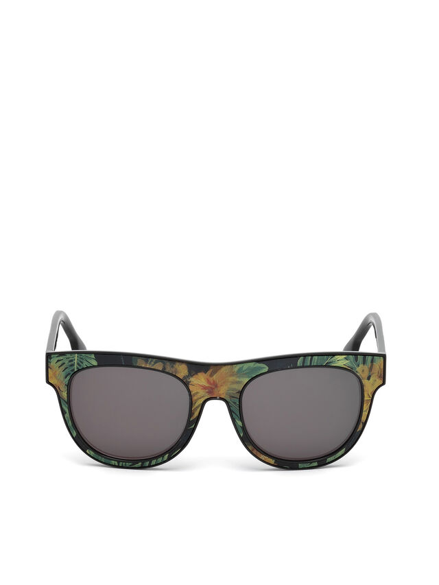 Diesel - DM0160, Black/Orange - Eyewear - Image 1