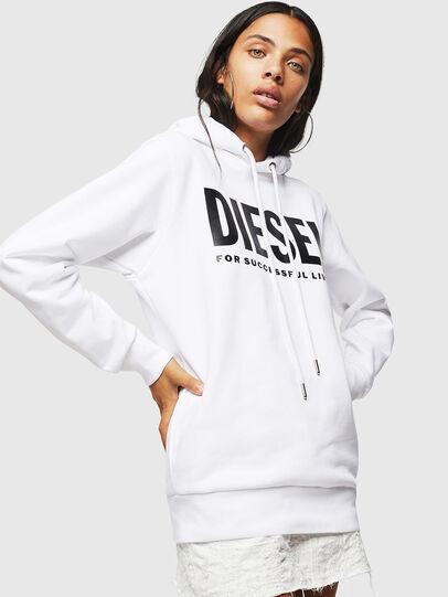 Diesel - F-GIR-HOOD-DIV-LOGO-, White - Sweaters - Image 1