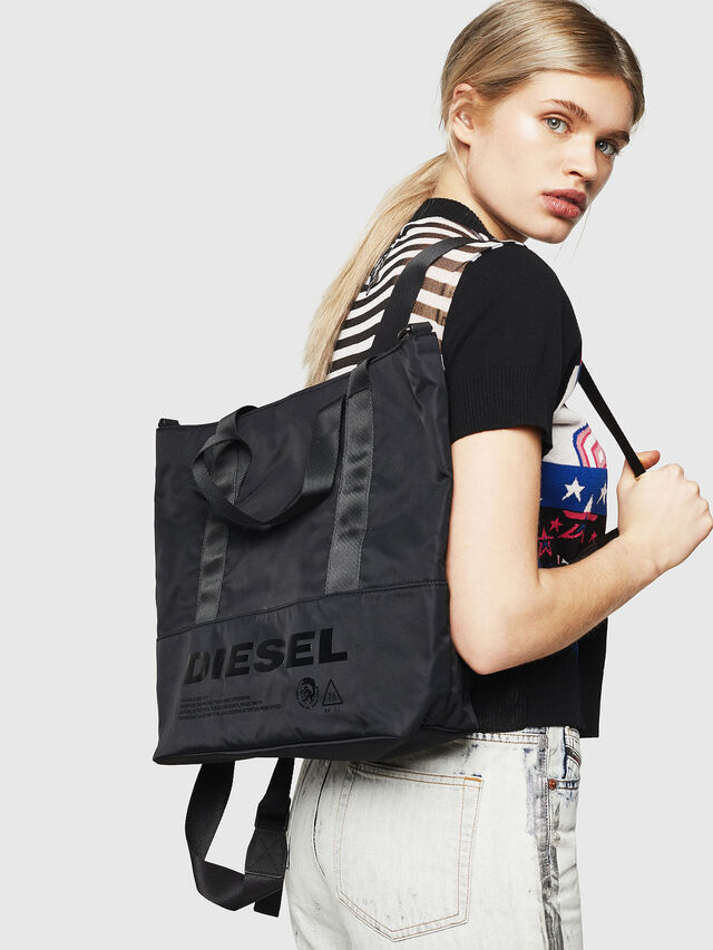 Diesel - F-SUSE T BACK W, Black/Blue - Backpacks - Image 6