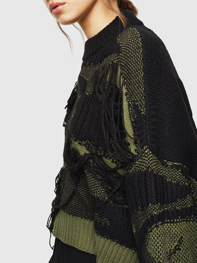 Diesel - M-KAM, Black/Green - Knitwear - Image 5
