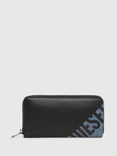 Diesel - 24 ZIP, Black/Blue - Zip-Round Wallets - Image 1