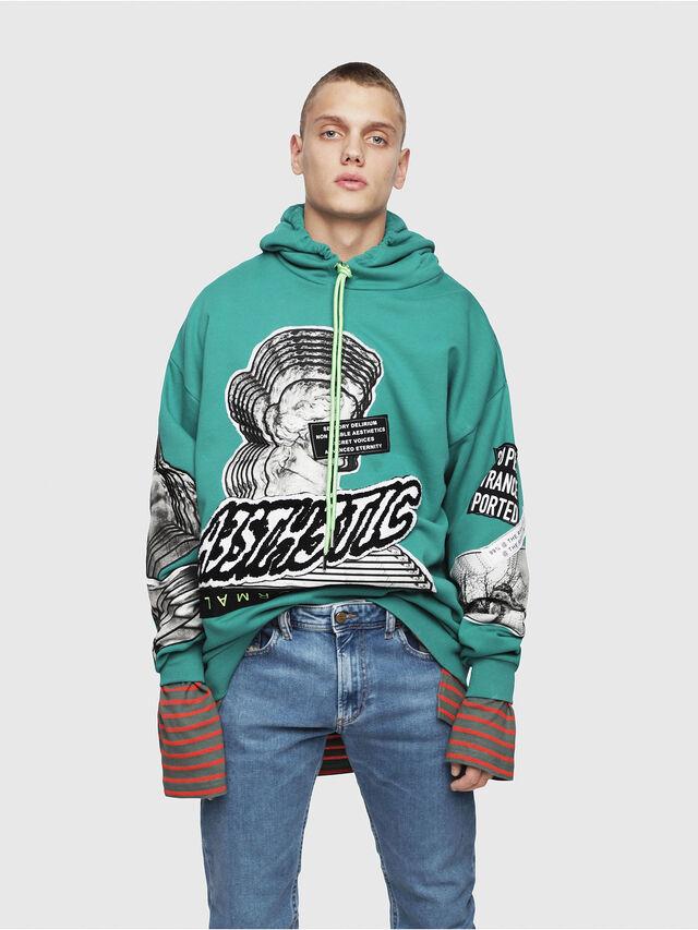 Diesel - S-JACK-YA, Water Green - Sweaters - Image 1