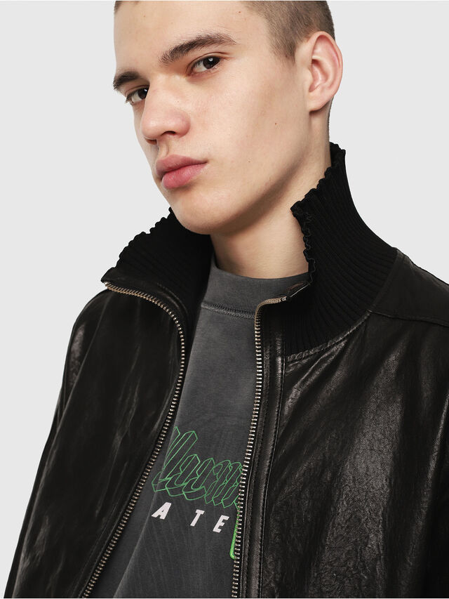 Diesel - L-LYSSEN, Black - Leather jackets - Image 3