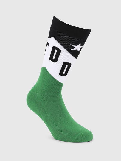 Diesel - SKM-RAY, Green/Black - Socks - Image 1