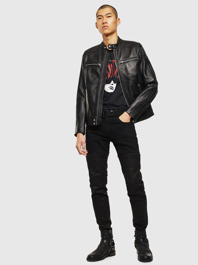 Diesel - L-BOY, Black - Leather jackets - Image 6