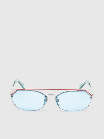 Diesel - DL0313, White/Red - Sunglasses - Image 1