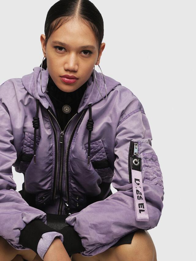 Diesel - G-IKUE, Lilac - Jackets - Image 3