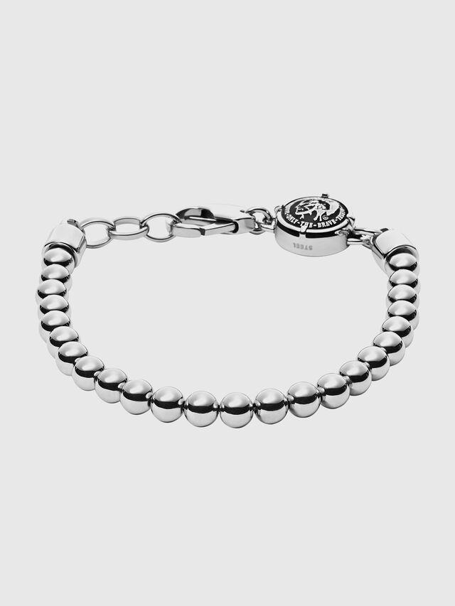 Diesel - BRACELET DX0930, Metal Grey - Bracelets - Image 1