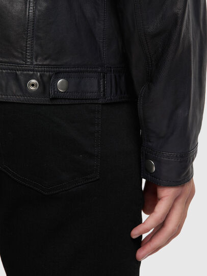Diesel - L-NHILL-TRE, Black - Leather jackets - Image 4