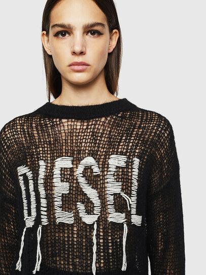 Diesel - M-ANDREA, Black - Knitwear - Image 3