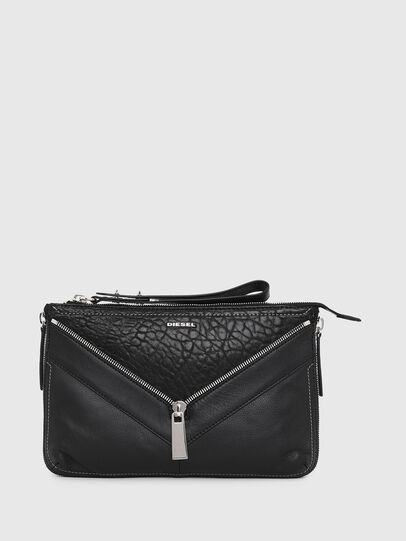 Diesel - LE-LITTSYY, Black Leather - Clutches - Image 1