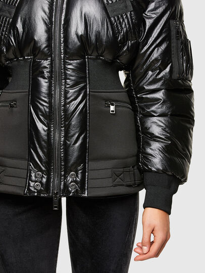 Diesel - W-ISOKE-SHINY, Black - Winter Jackets - Image 4
