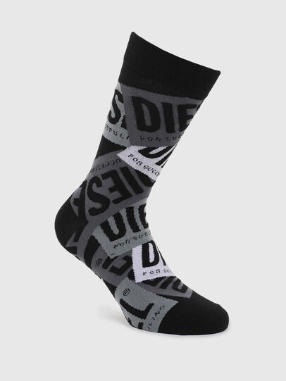 Diesel - SKM-HERMINE, Black/Grey - Socks - Image 1