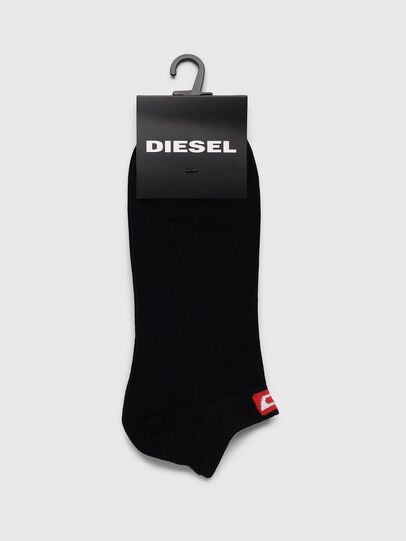 Diesel - SKM-GOST, Black/Red - Low-cut socks - Image 2