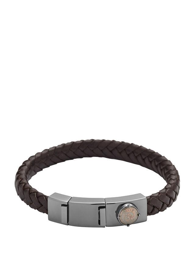 Diesel BRACELET DX0856, Dark Brown - Bracelets - Image 1