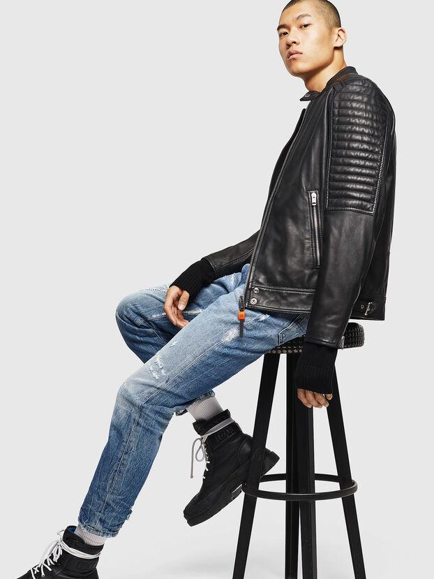 L-SHIRO, Black Leather - Leather jackets