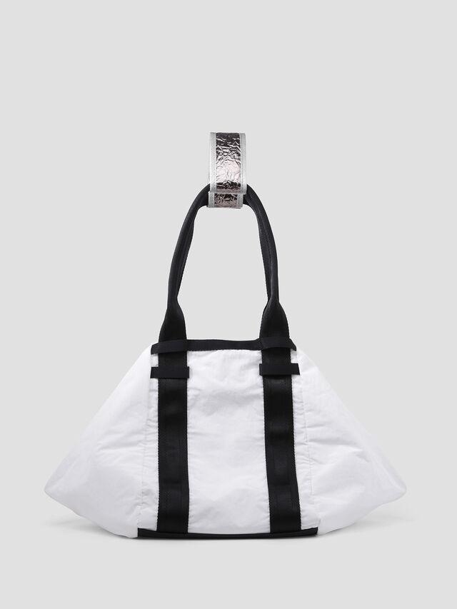 Diesel - D-CAGE SHOPPER, White/Black - Shopping and Shoulder Bags - Image 2