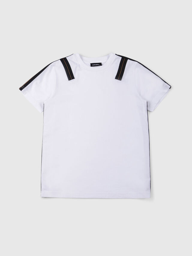 Diesel - TJUSTAPE, White - T-shirts and Tops - Image 1