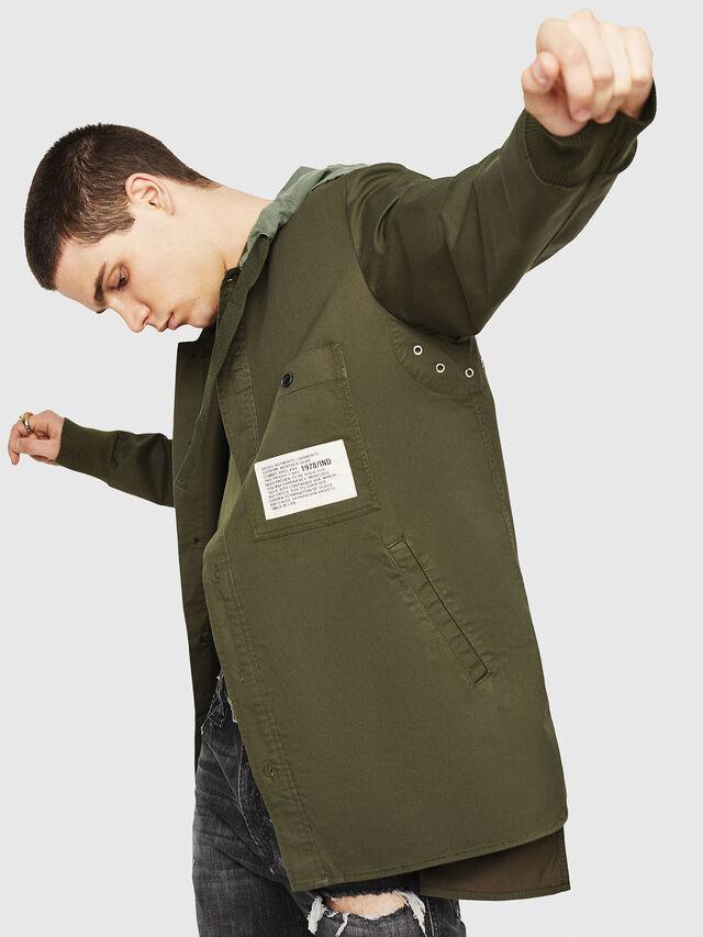Diesel - S-EIKU, Military Green - Shirts - Image 4