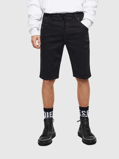 Diesel - D-KROOSHORT JOGGJEANS, Black/Dark grey - Shorts - Image 1