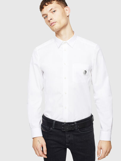 Diesel - S-BILL-POCKET, White - Shirts - Image 4