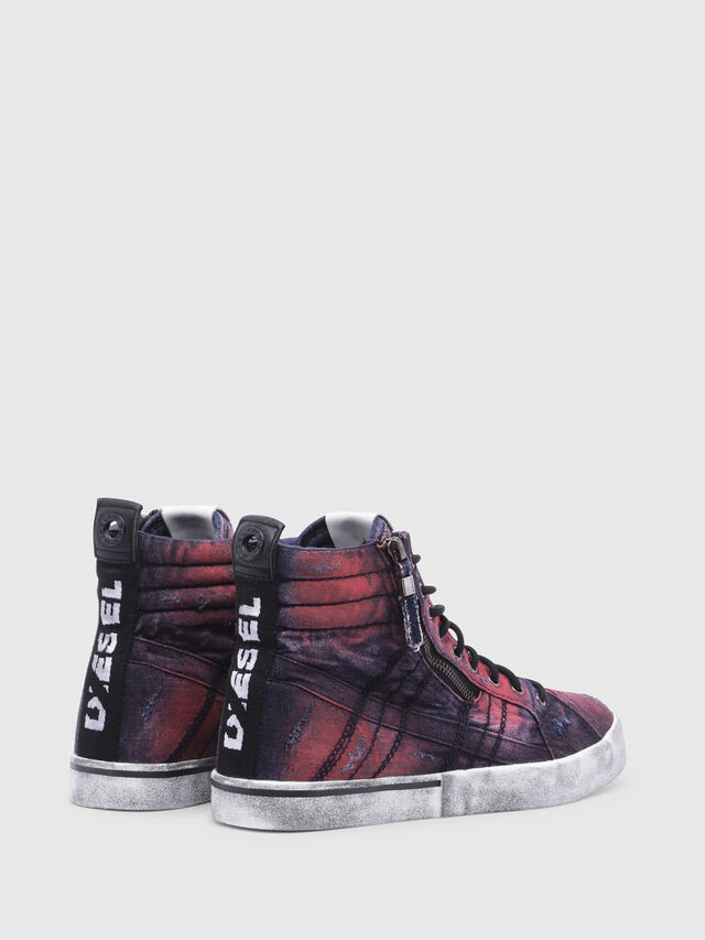Diesel - D-VELOWS MID LACE, Blue/Red - Sneakers - Image 3