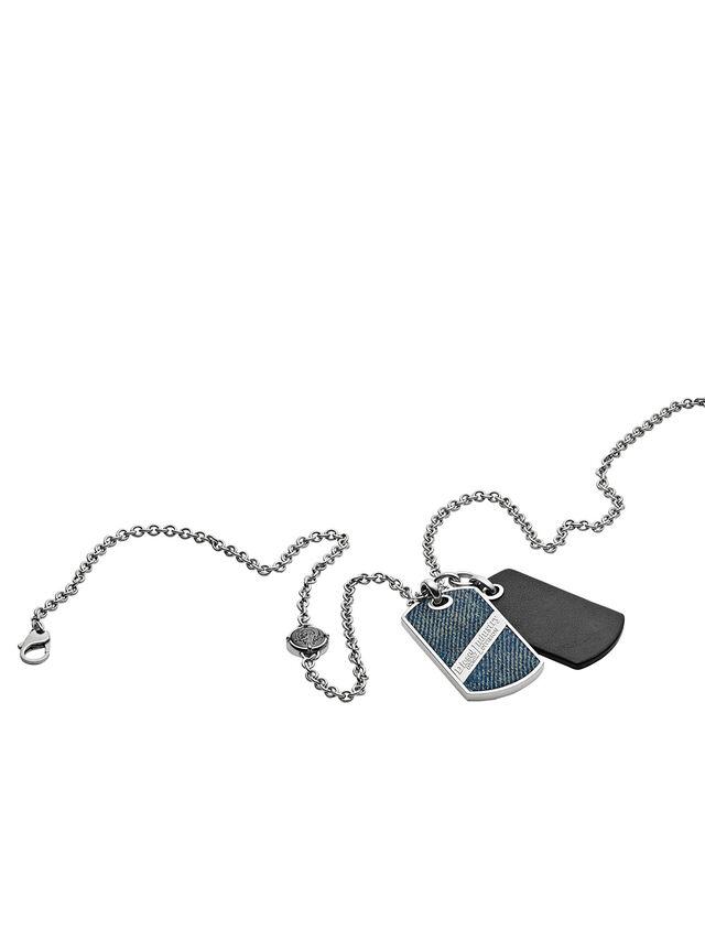 Diesel - NECKLACE DX1031, Blue Jeans - Necklaces - Image 2