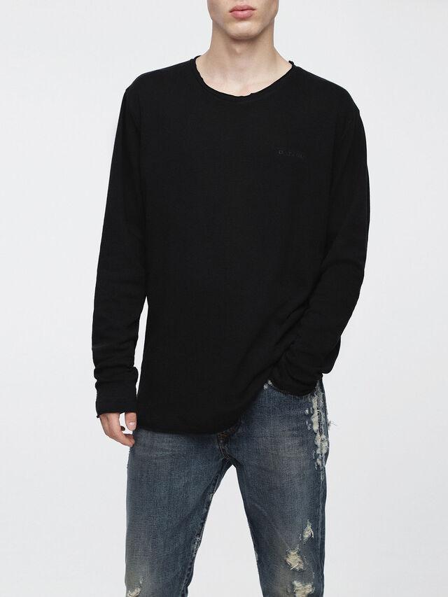 Diesel - T-JUST-LS-ROW, Black - T-Shirts - Image 1