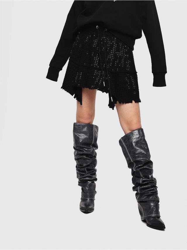 Diesel - O-CRYS, Black - Skirts - Image 1