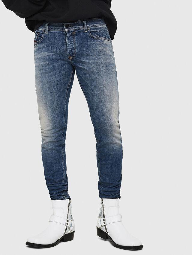 Diesel - Sleenker 069FI, Dark Blue - Jeans - Image 1