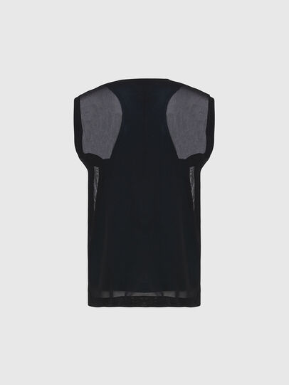 Diesel - T-SLICUT, Black/Green - Tops - Image 2