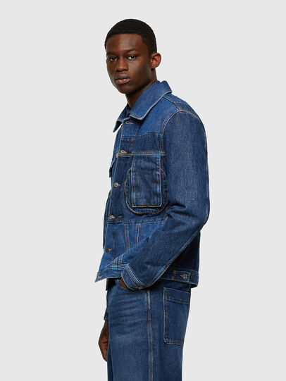 Diesel - D-COSNIL, Medium blue - Denim Jackets - Image 5