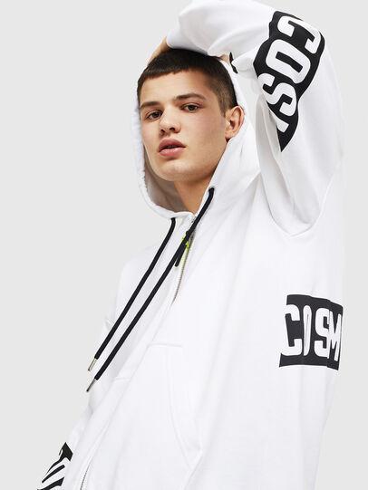 Diesel - S-ALBY-ZIP-A1, White/Black - Sweaters - Image 3