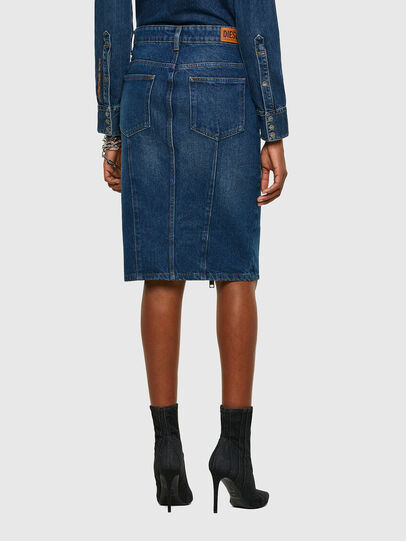 Diesel - DE-PENCIL-ZIP, Medium blue - Skirts - Image 2