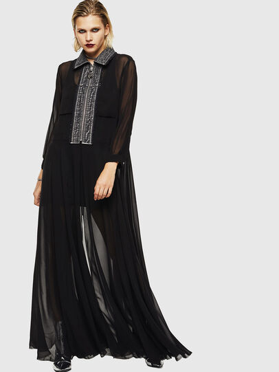 Diesel - D-RAHAN-A, Black - Dresses - Image 1
